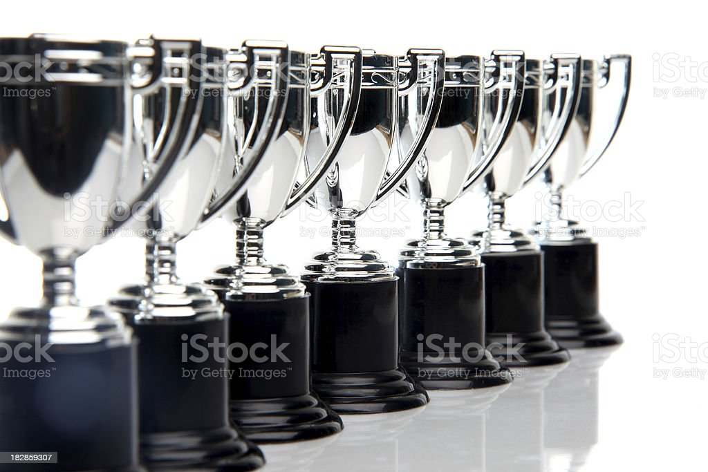 Winners Trophies stock photo