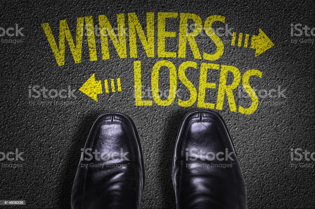 Winners x Losers stock photo