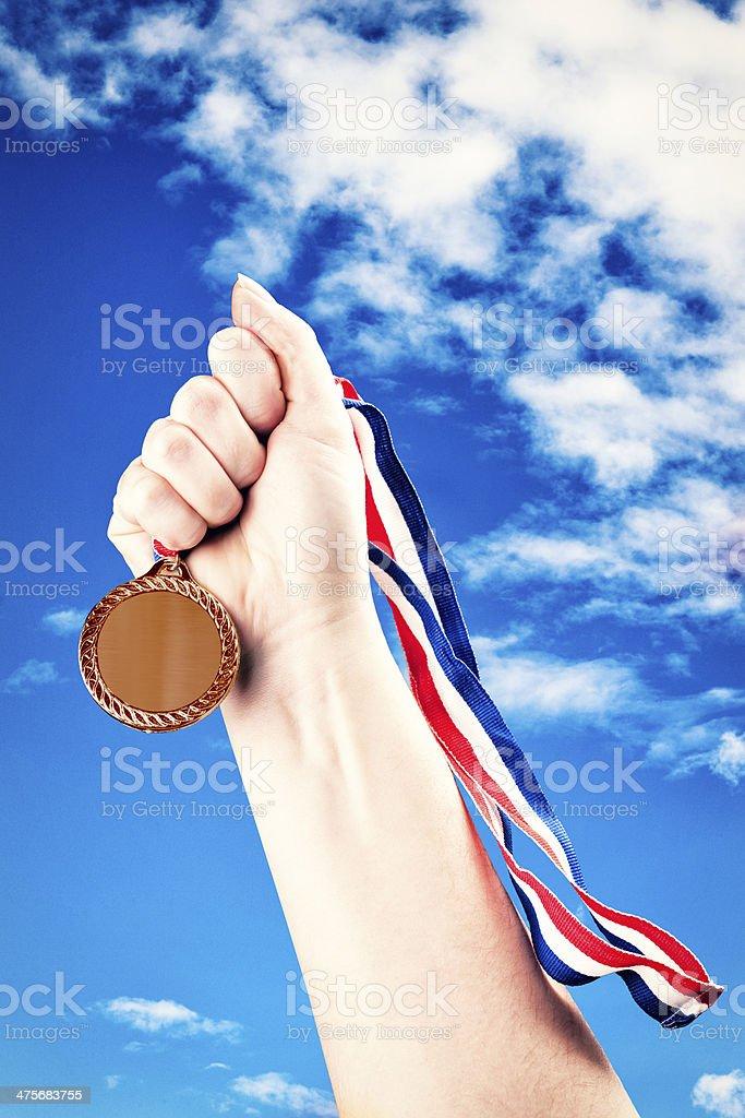 Winning Bronze royalty-free stock photo