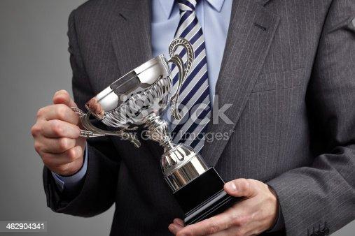 istock Winning business trophy 462904341
