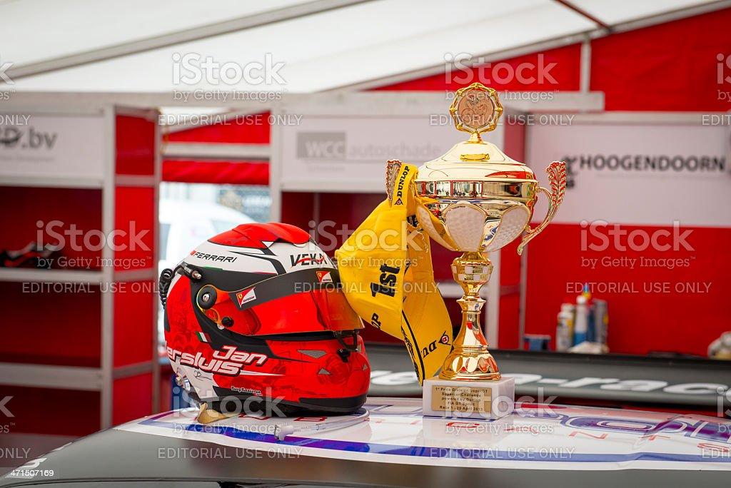 Winning Ferrari 458 GT2 stock photo