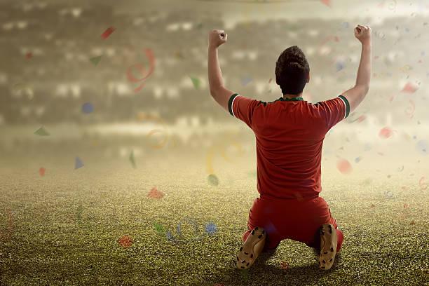 Galardonado jugador de fútbol - foto de stock