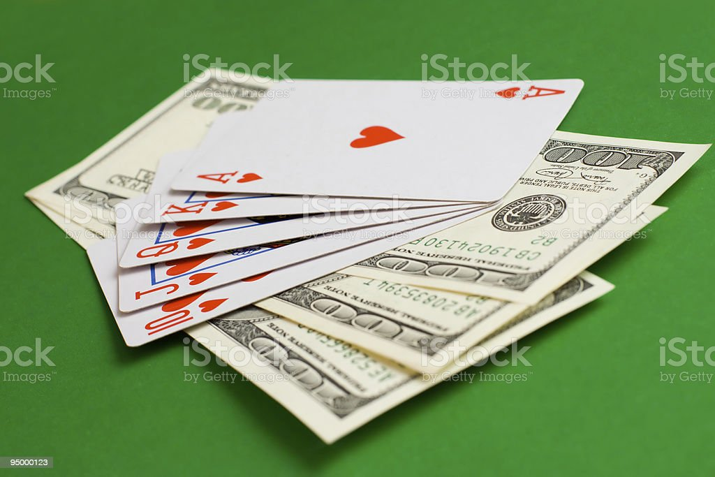 winning in cards royalty-free stock photo