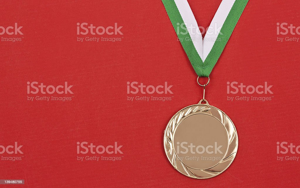 winning medal royalty-free stock photo