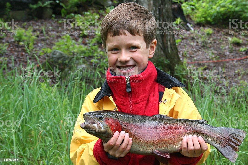 Winning Rainbow Trout! stock photo