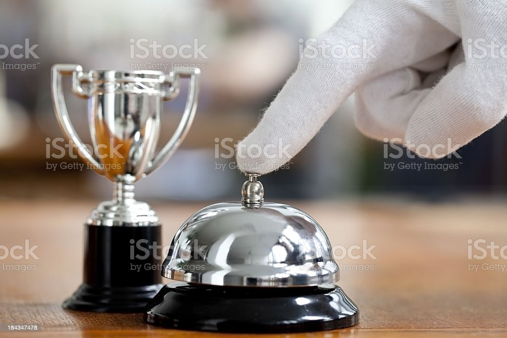 Winning service royalty-free stock photo