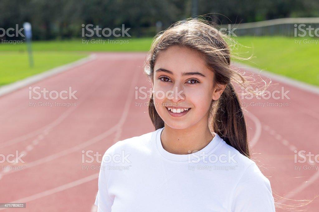 Winning Smile stock photo