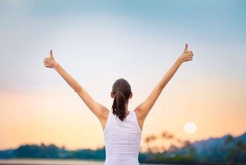 istock Winning, success  and life goals concept. 952953174