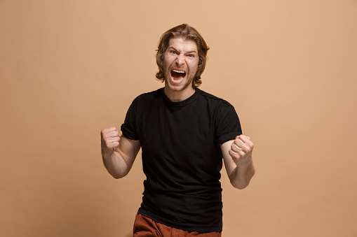 941370476 istock photo Winning success man happy ecstatic celebrating being a winner. Dynamic energetic image of male model 924900710
