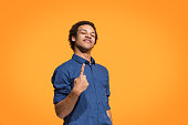 istock Winning success man happy ecstatic celebrating being a winner. Dynamic energetic image of male model 958668322