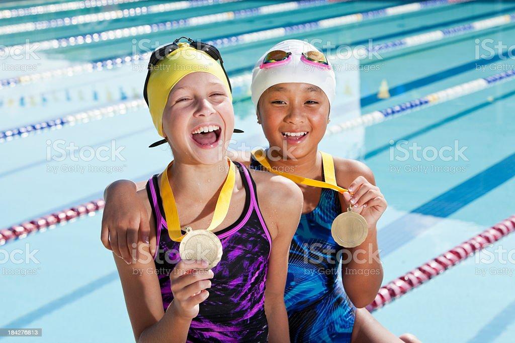 Winning team stock photo