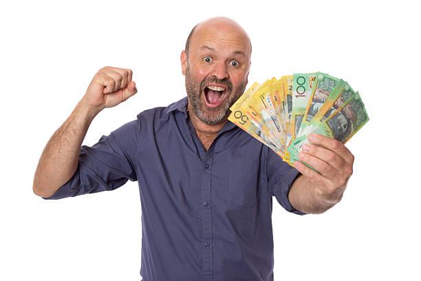 Winning the Money stock photo