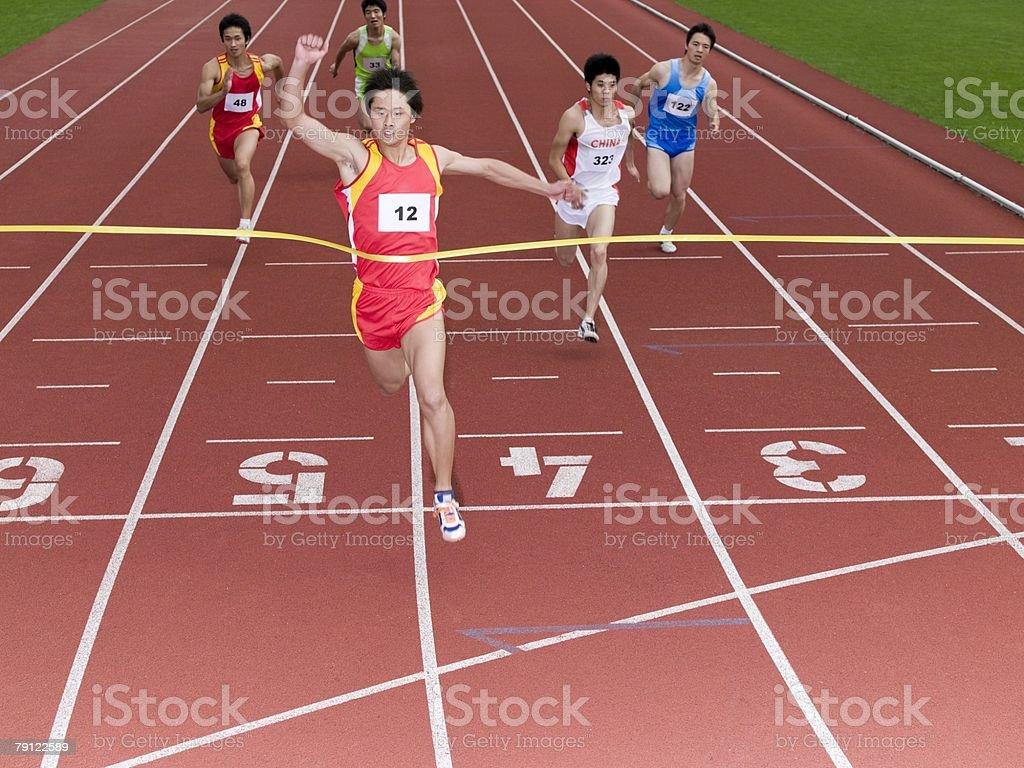Winning the race 免版稅 stock photo