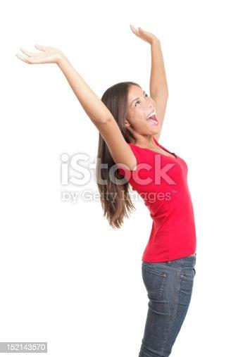 500150419istockphoto Winning woman celebrating success 152143570
