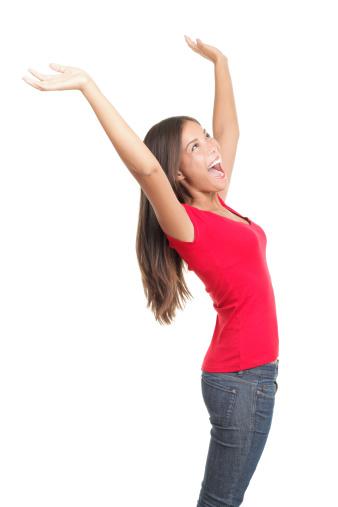 500150419 istock photo Winning woman celebrating success 152143570