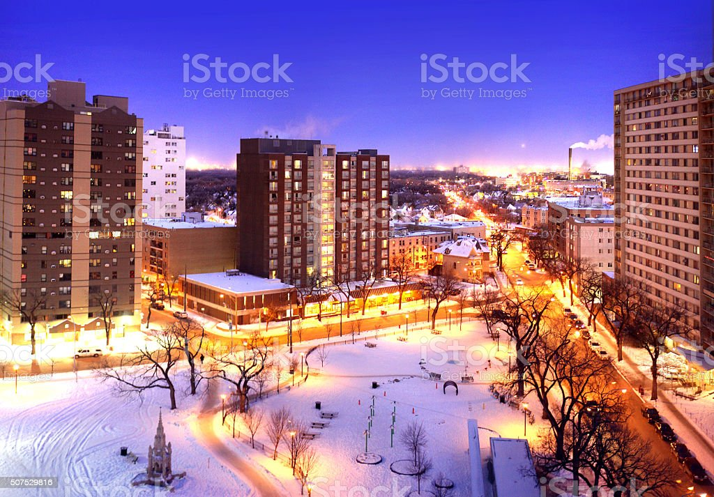 Winnipeg Blue Hour stock photo