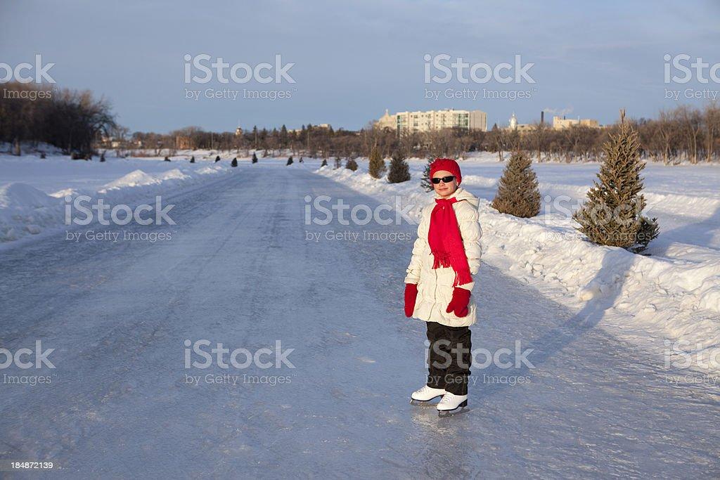 Winnipeg Ice Skating royalty-free stock photo