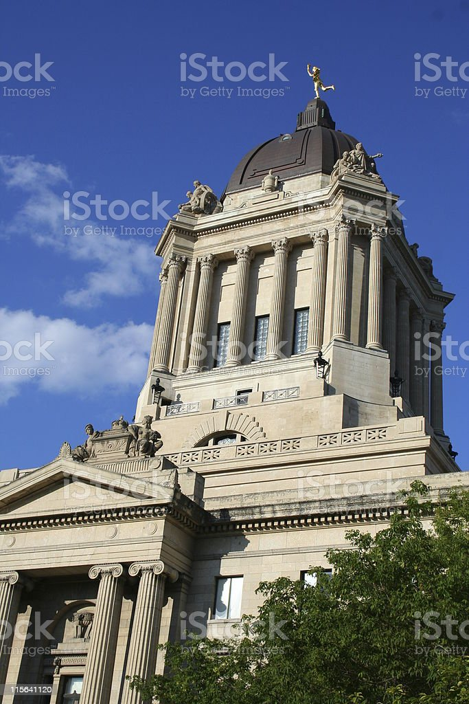 Winnipeg Legislature royalty-free stock photo