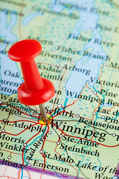 Winnipeg Karte, Ontario – KANADA – Foto