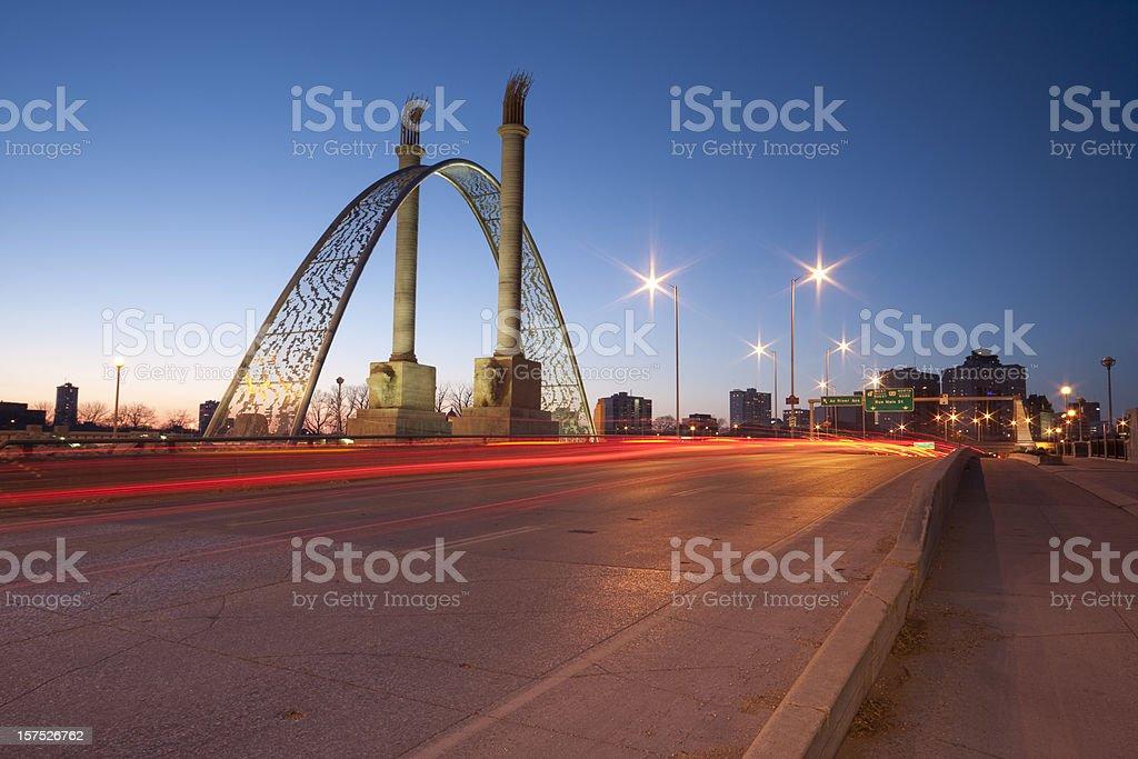 Winnipeg norwood bridge royalty-free stock photo