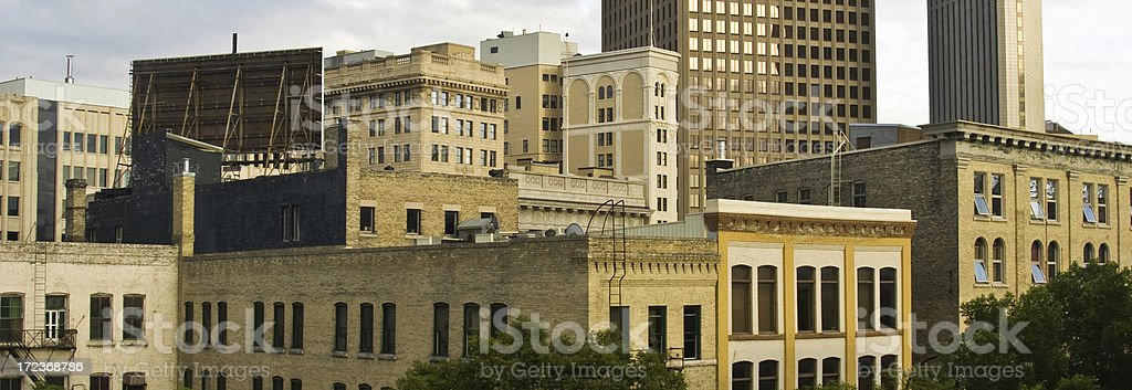 Winnipeg Panorama Downtown. royalty-free stock photo