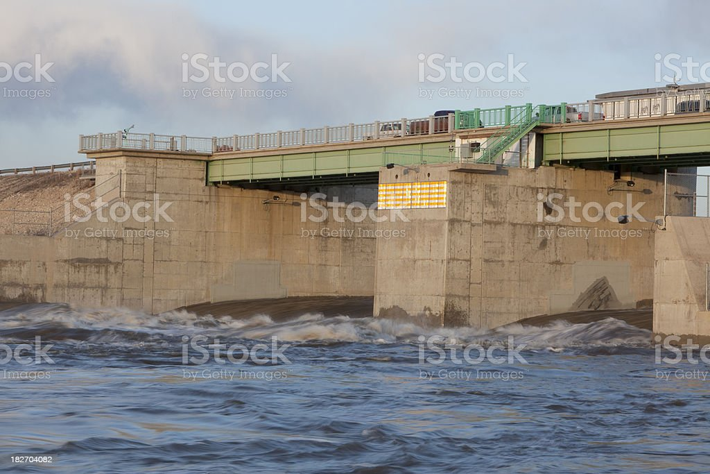 Winnipeg  Red River Floodway royalty-free stock photo