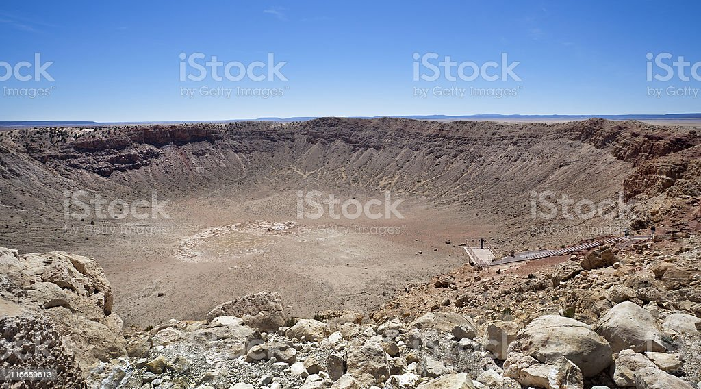winslow crater stock photo