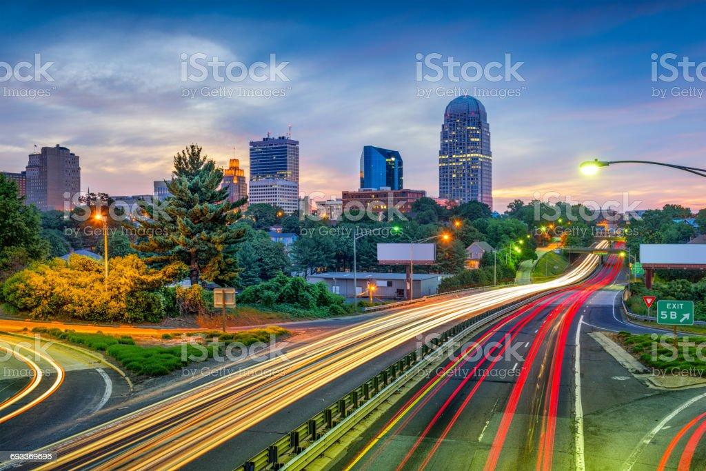 Winston-Salem, North Carolina, USA stock photo