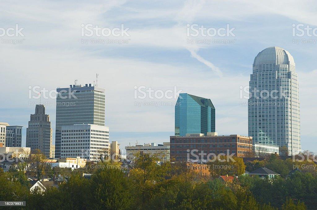 Winston-Salem skyline stock photo