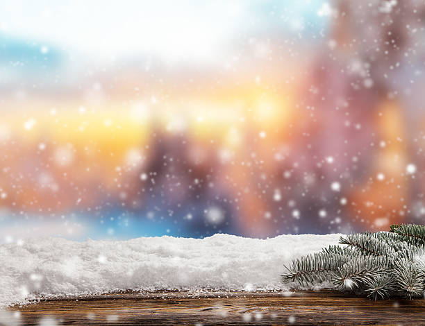 winter abstract background with wooden planks - non urban scene stock photos and pictures