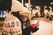 Entertaining winter enjoyment for skating fans