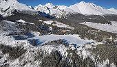 Aerial view of Strbske Pleso resort, Slovakia