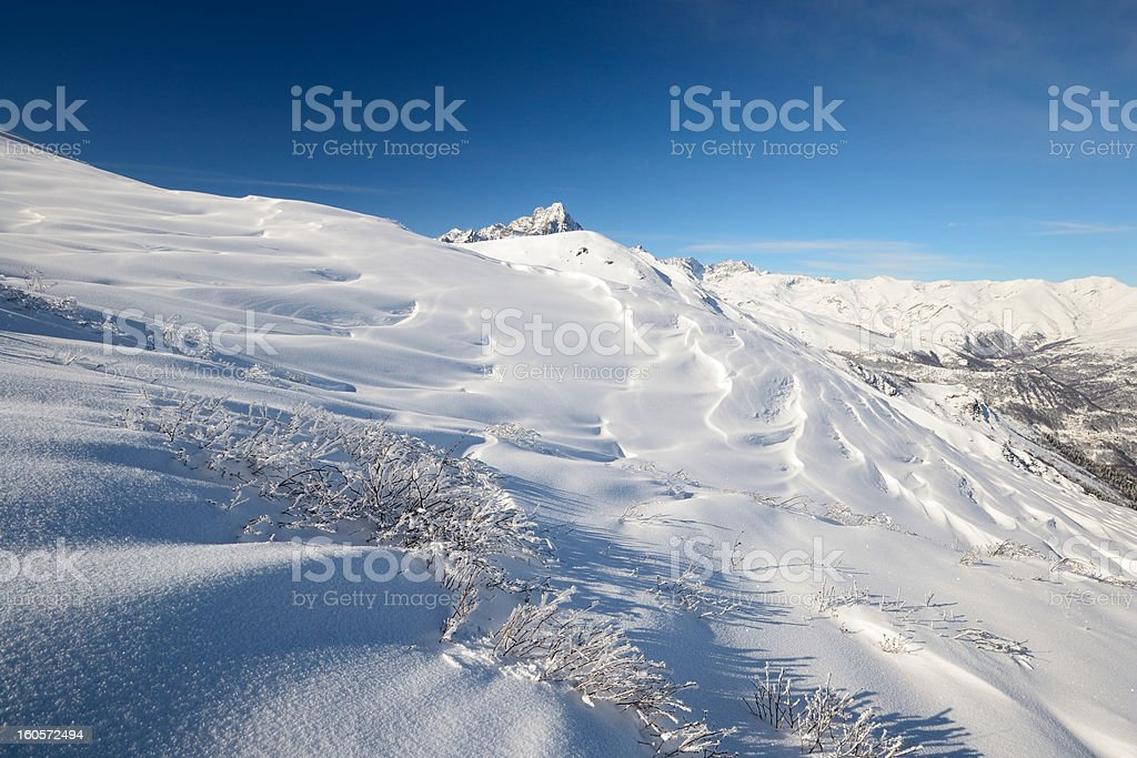 Winter alpine landscape in Italy royalty-free stock photo