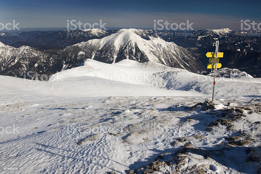 Winter alpine view royalty-free stock photo