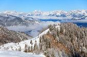 Winter Alps near Gerlos, Austria