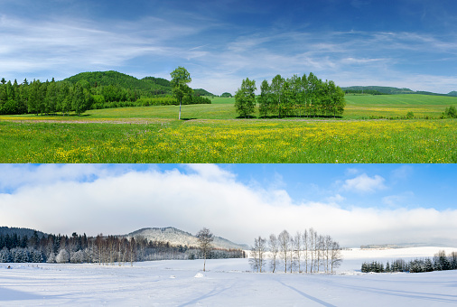 Comparison of 2 seasons - winter and summer
