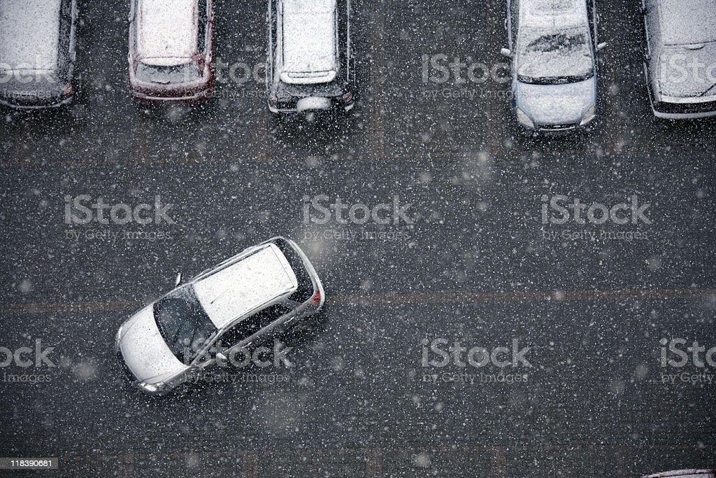 winter and transportation stock photo