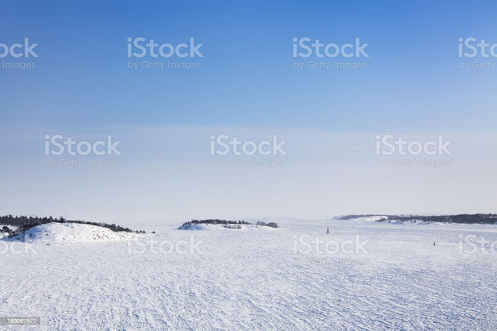 Winter archipelago stock photo