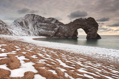 Winter at Durdle Door.