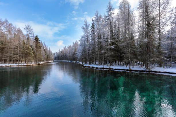 Winter at Kitch-iti-kipi Springs in the Upper Peninsula of Michigan