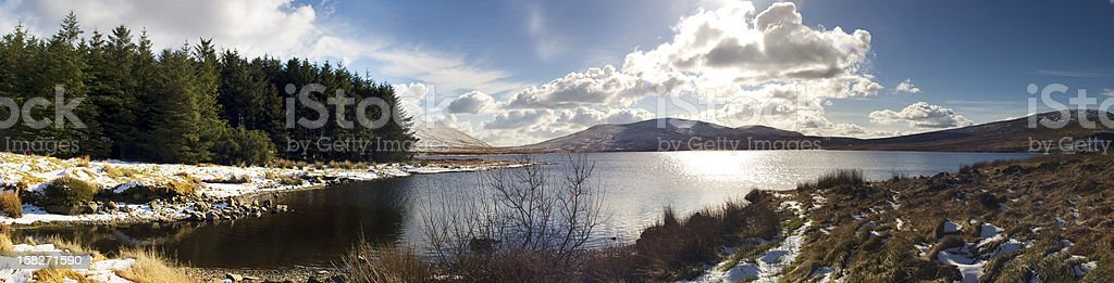 Winter at Spelga Reservoir stock photo