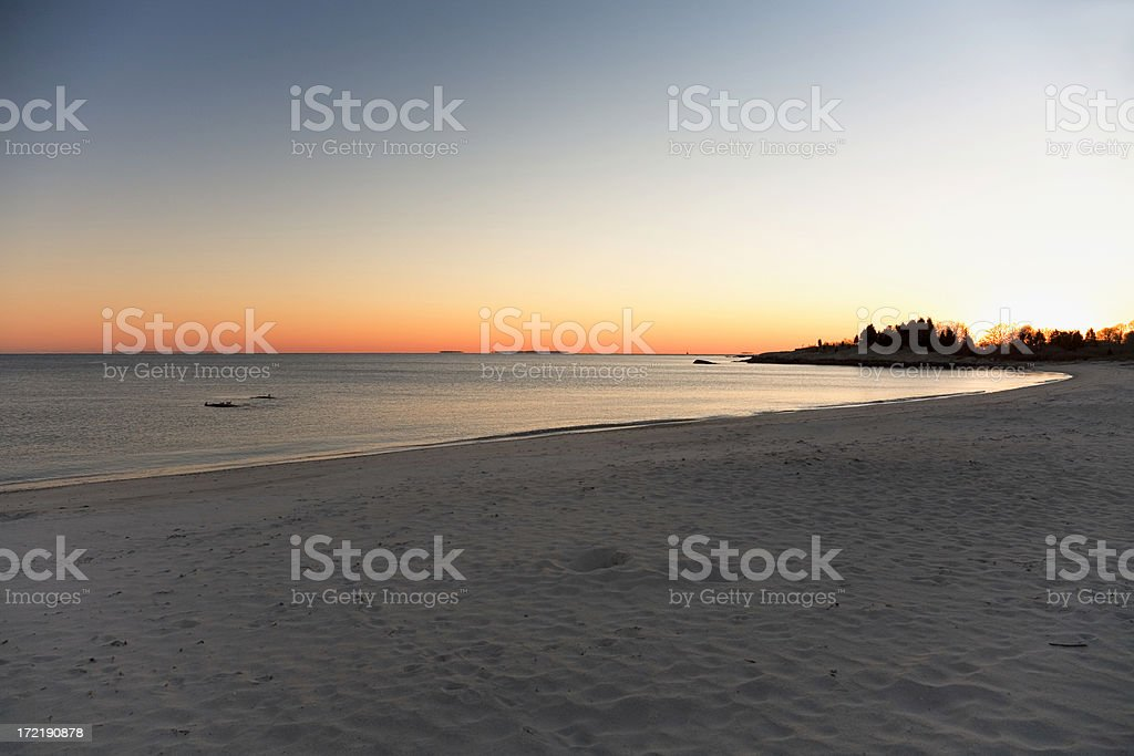 Winter at the Beach - 3 royalty-free stock photo