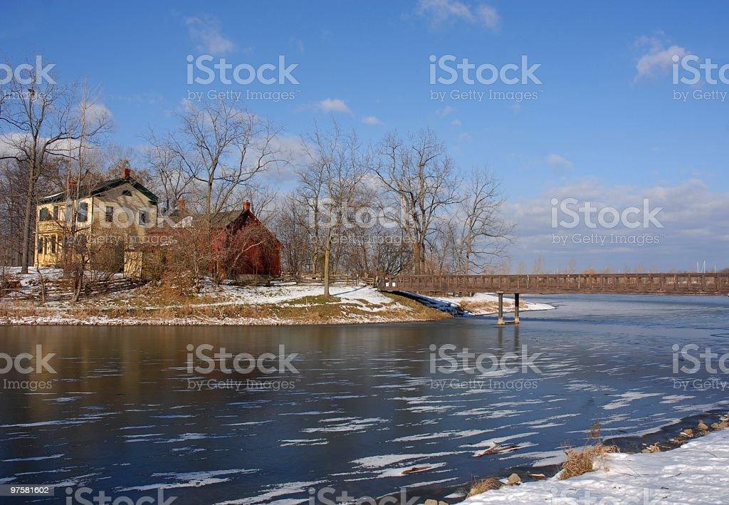 Hiver sur le lac photo libre de droits