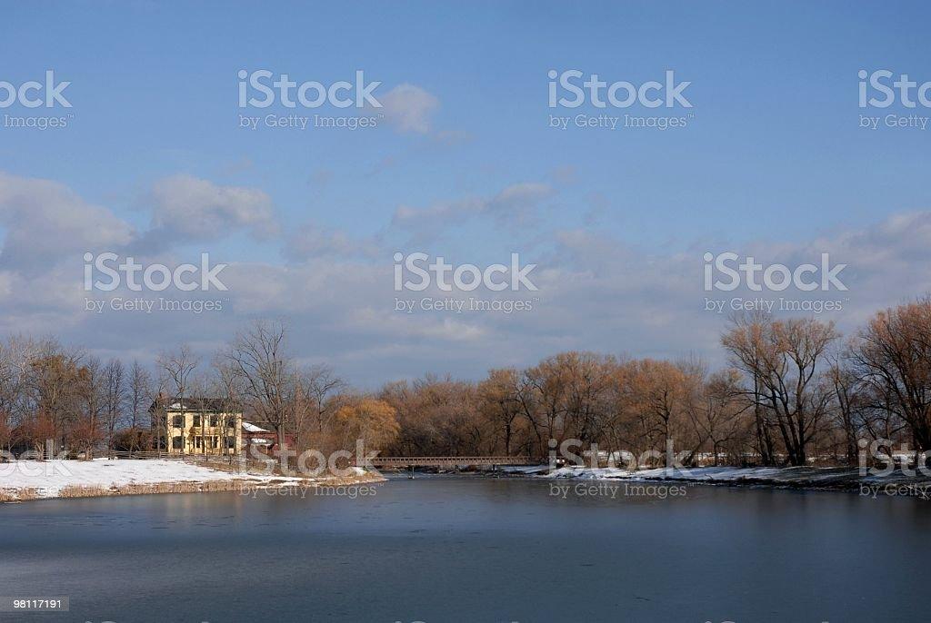 Winter at the lake royalty-free stock photo