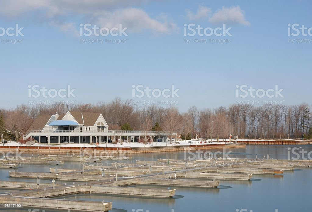 Inverno al the Marina foto stock royalty-free