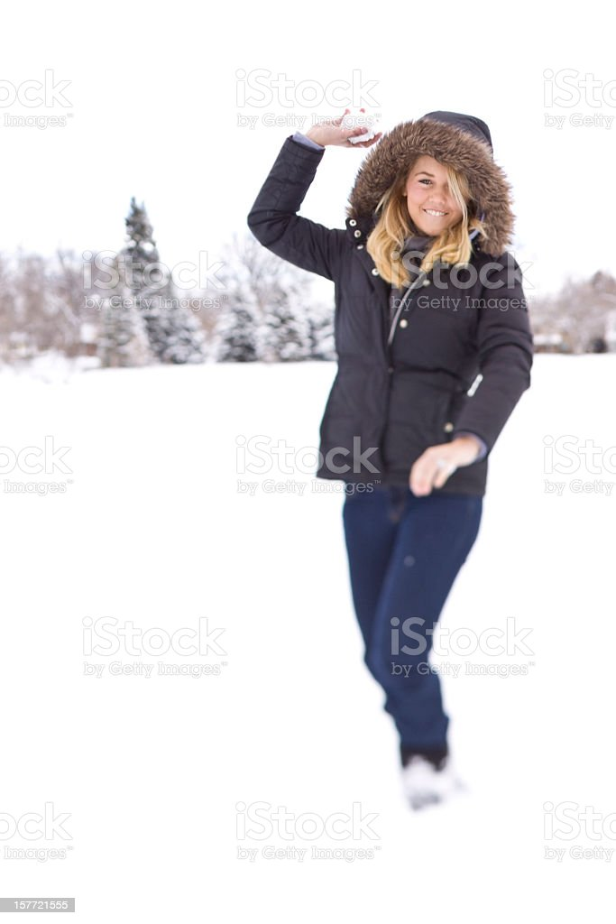 winter attack royalty-free stock photo