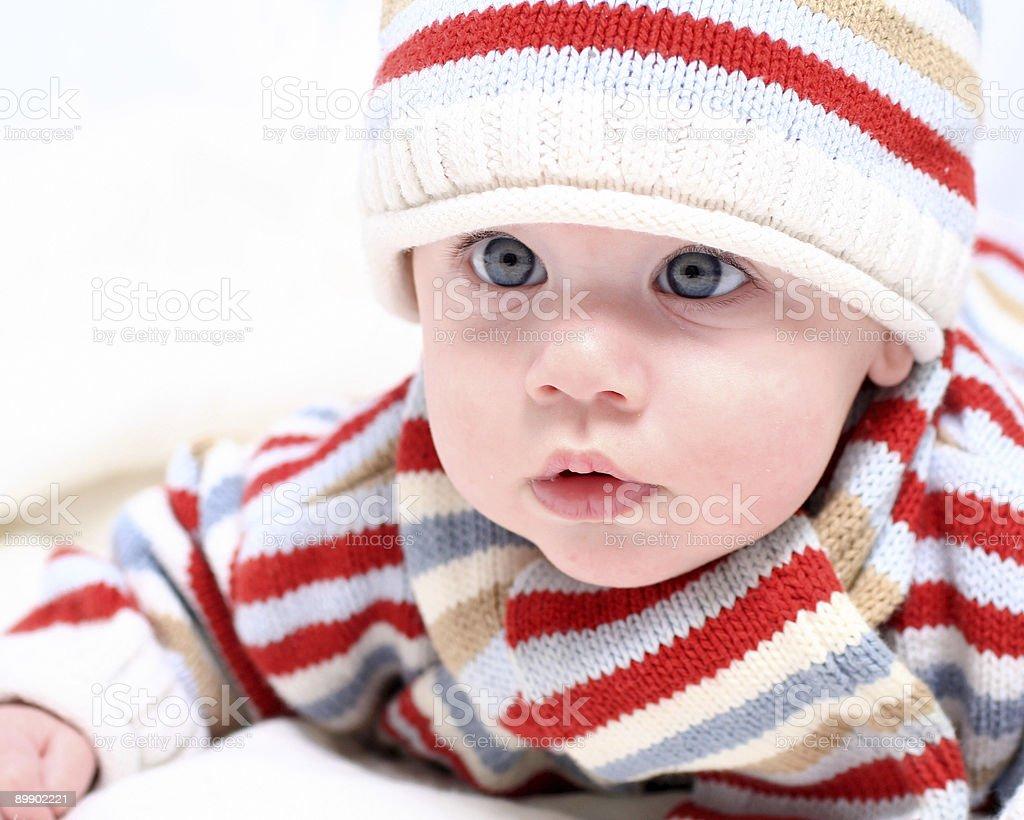 Winter baby royalty-free stock photo