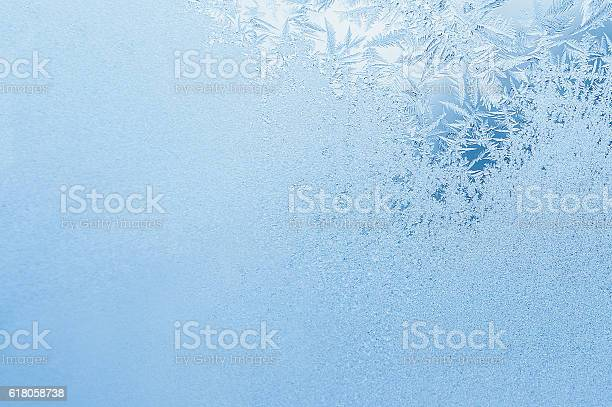 Photo of Winter background, frost on window