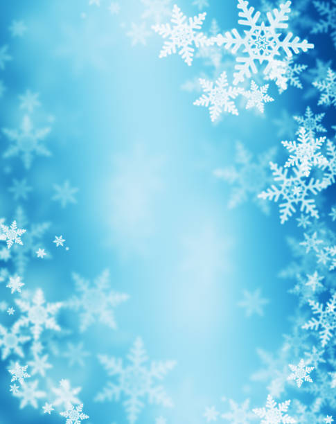 winter background - snowflake background stock pictures, royalty-free photos & images
