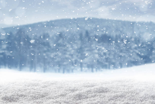 winter background - snow pile stock photos and pictures